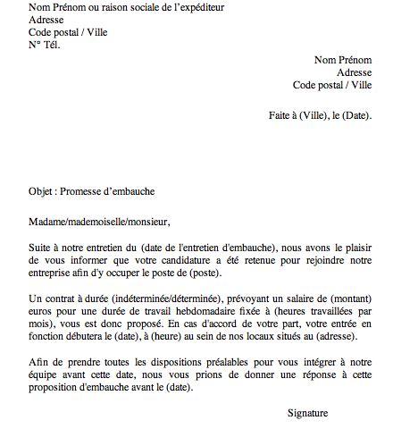Delai Entre Deux Cdd by Comment Avoir Une Promesse D Embauche