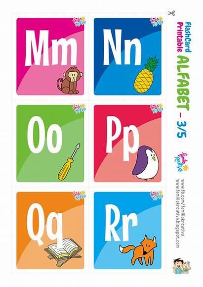 Alfabet Printable Flashcard Indonesia Gratis