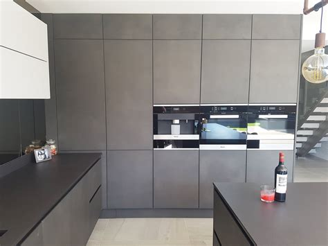 Kitchen Floor Units by Concrete And Light Grey Modern True Handleless