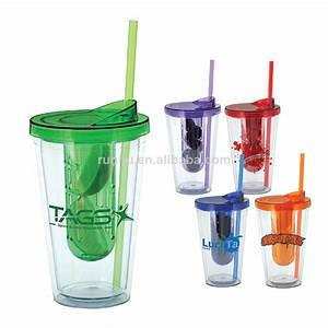 Verre Avec Paille : 16oz en plastique isol double paroi tasse avec couvercle verre de paille et infuseur rh135 16 ~ Teatrodelosmanantiales.com Idées de Décoration