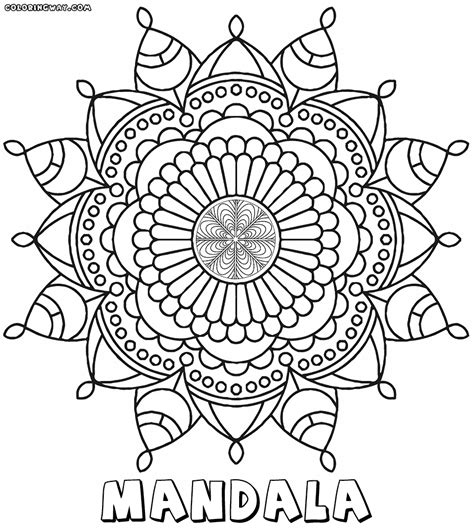 intricate mandala coloring pages coloring pages