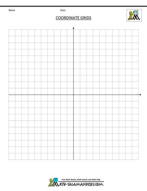 Coordinate Grid Sheets  New Calendar Template Site