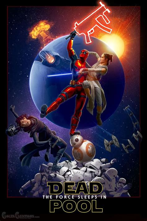 deadpool fan art deadpool  star wars  adam