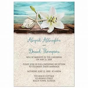 Wedding invitations beach reception invitations invite for Beach wedding invitations with pictures