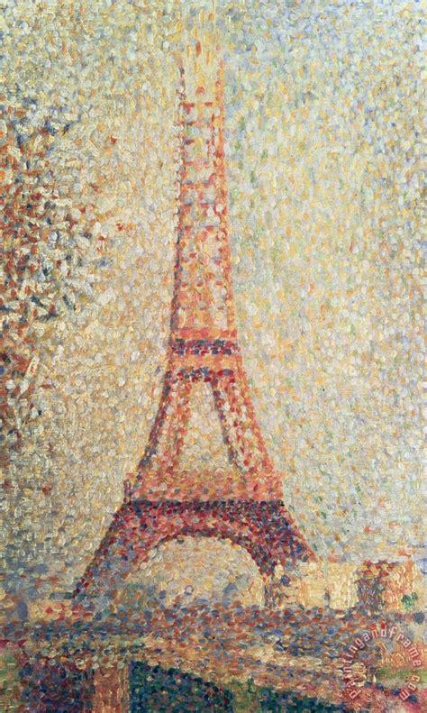 georges pierre seurat  eiffel tower painting