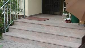Fliesen Für Außentreppe : au entreppe aus naturstein multicolor rot als treppenbelag wagner treppenbau mainleus ~ Frokenaadalensverden.com Haus und Dekorationen