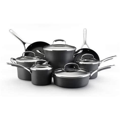 kitchen aid  piece cookware set gray