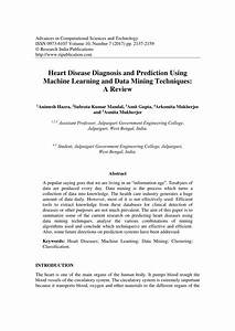 Pdf  Heart Disease Diagnosis And Prediction Using Machine Learning And Data Mining Techniques