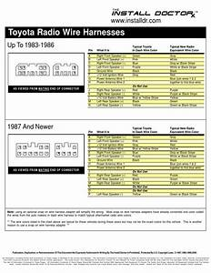 Toyota Radio Wiring