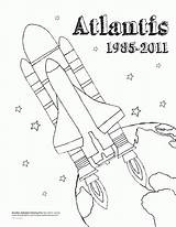 Coloring Shuttle Space Pages Atlantis Sheet Realistic Popular Coloringhome sketch template