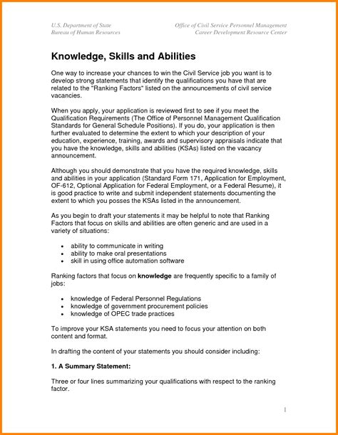 3+ Knowledge Skills And Abilities Examples  Ledger Paper