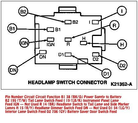 Mustang Headlight Switch Connector Diagram