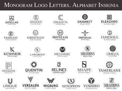 monogram logo letters alphabet insignia  djjeepdesign  dribbble