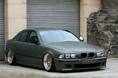 bmw stanced bmw 5 series stanced matte green rides pinterest