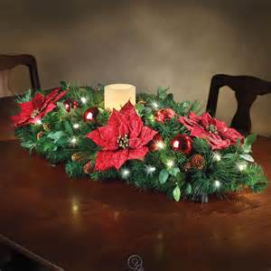 the cordless prelit holiday christmas candle centerpiece poinsettias lights ebay