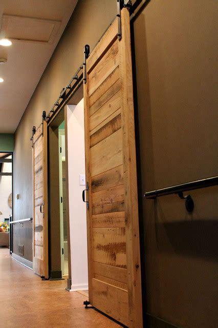 sliding barn doors contemporary bedroom boise