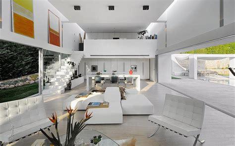modern villa  pool