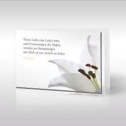 sprüche für die trauerkarte trauerkarten lilie im trauerflor