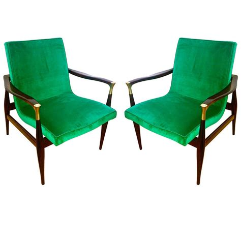 emerald colored velvet chairs for the home