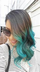 How To Turquoise / Blue Ombre Hair Manic Panic Atomic ...