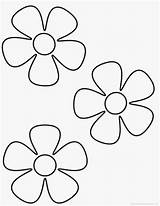 Coloring Printable Flower Flowers Preschool Daisy Colouring Simple sketch template
