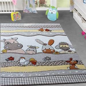 Teppich Im Babyzimmer : kinder teppich bauernhof design lustige tiere kinderzimmer teppiche beige creme kinderteppich ~ Markanthonyermac.com Haus und Dekorationen