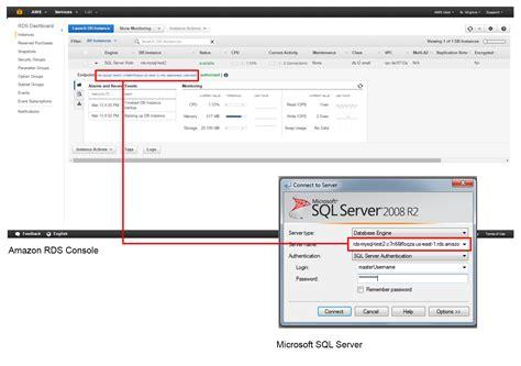 create  microsoft sql server db aws