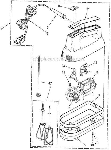 kitchen aid replacement parts kitchenaid khm5twh parts list and diagram 4176918