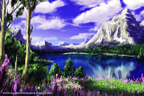 nature painting wallpaper nature wallpaper