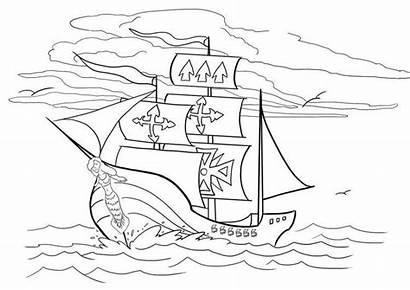 Pirate Coloring Ships Ship Cartoon Sheets Lego