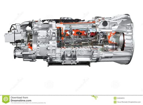 Heavy Truck Automatic Transmission Isolated Royalty-free