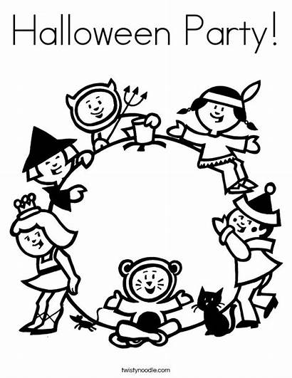 Halloween Coloring Pages Party Costumes Costume Printable
