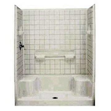 sterling plumbing  seated shower base carter lumber