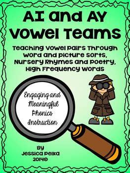 vowel team ai  ay phonics  word sorts nursery