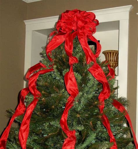 how to make a large tree topper bow tree topper bow with streamers by shannonkristina 45 00