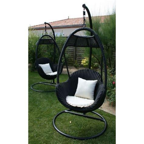 chaise balancelle balancelle suspendue en résine tressée achat vente