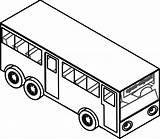 Bus Coloring Clipart Transportation Clip sketch template