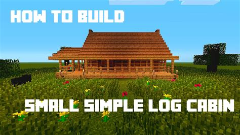 minecraft   build small simple log cabin youtube