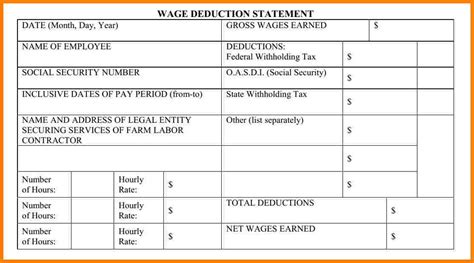 payroll statement template samples  paystubs