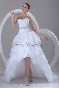 organza wedding dresses allens bridal organza sweetheart neckline asymmetrical gown ruffle wedding dress