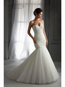 mori lee 5272 mermaid style wedding dress ivory With fashion wedding dress