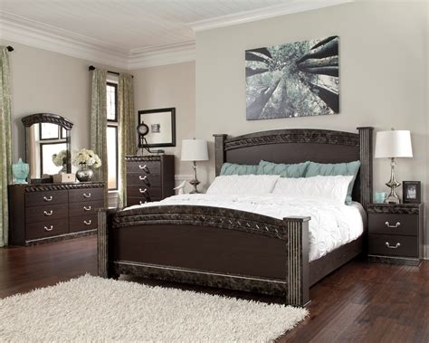 vachel poster bedroom set  ashley