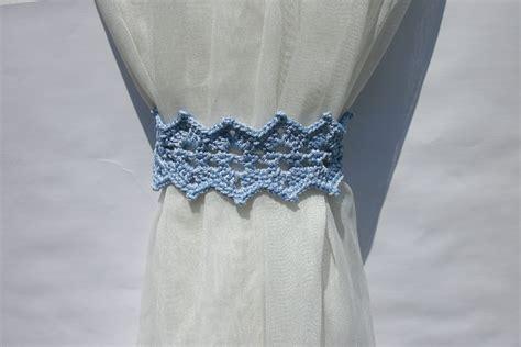 free crochet curtain tie back patterns curtain