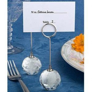 shimmering snowflake bauble place card holders 6 wedding place cards table place card holders favour