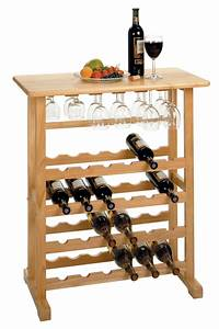 Winsome 24-Bottle Wine Rack with Glass Rack by OJ Commerce