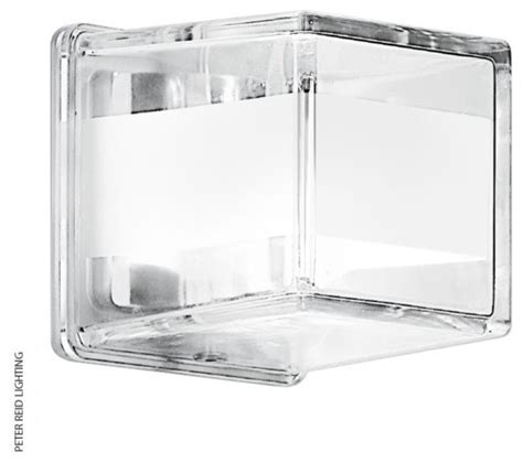 frosted glass cube wall lights contemporary