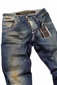 Mens Designer Clothes   EMPORIO ARMANI Mens Washed Jeans #91