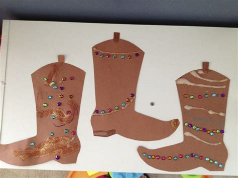 rodeo crafts for preschoolers tami s house cowboy boots and horseshoes 364
