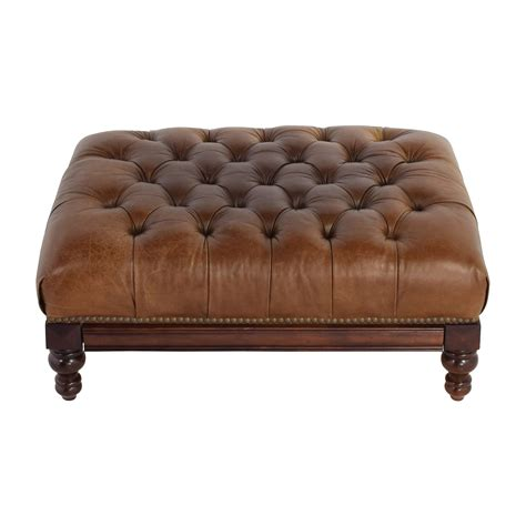Tufted Leather Ottoman ottomans used ottomans for sale