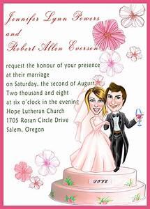 funny wedding invitations humorous wedding invitations With wedding invitations cartoon pictures